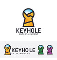 keyhole entertainment logo design vector image vector image