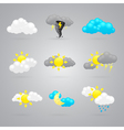 many different color weather icons vector image