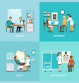 medical treatment square composition vector image vector image