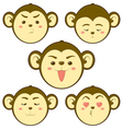 Monkey emotion2 vector image