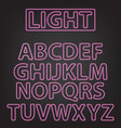 neon letters isolated on gray vector image vector image