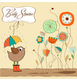 new baby announcement card vector image vector image