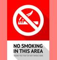 no smoker poster vector image vector image