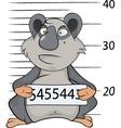 Panda the prisoner Criminal mug shot Cartoon vector image