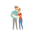 parents with newborn baby mother and father vector image vector image