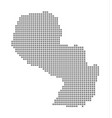 pixel map of paraguay dotted map of paraguay vector image vector image
