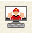 Professional online design vector image