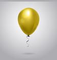 realistic yellow balloon isolated on grey vector image vector image