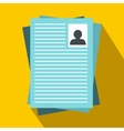 Resumes icon in flat style vector image vector image