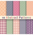 Retro abstract seamless patterns tiling vector image vector image
