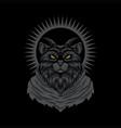 satanic cat vector image