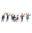 screaming people angry business characters woman vector image vector image
