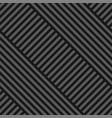 seamless diagonal geometric pattern - dark vector image vector image