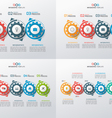set of business infographic templates with gears vector image vector image