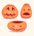 spooky halloween pumpkins objects vector image