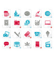 stylized different types of addictions icons vector image vector image