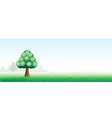 summer landscape with a tree vector image vector image