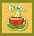 tea time related vector image vector image
