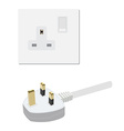 Uk socket and plug vector image vector image