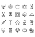 Veterinary line icons Pets thin signs vector image