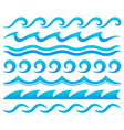 Water waves design elements set vector image