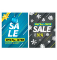 winter season vertical sale special offer banners vector image