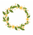 wreath with flowers vector image vector image