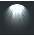Stage ies lights with smoky effect background vector image