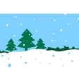 winter cartoon landscape vector image