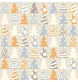 Abstract Christmas seamless pattern vector image