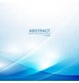 abstract smooth light wave and flow blue vector image