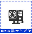 action camera icon flat vector image vector image