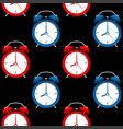 alarms clock pattern vector image vector image