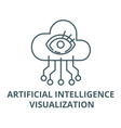 artificial intelligence visualization line icon vector image