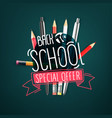 back to school special offer banner with doodle vector image vector image