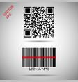 barcode and qr code barcode matrix vector image vector image