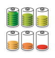 Battery life vector image vector image