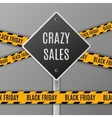 Black Friday Sale Sign vector image vector image