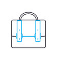 brief bag symbol thin line stroke icon vector image
