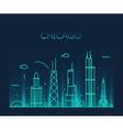 Chicago City skyline Trendy line art vector image vector image