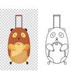 childish cute bag in form a bear for trips vector image vector image