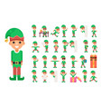 christmas elf girl santa claus helper in different vector image vector image