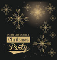 christmas part invitation card vector image vector image