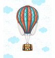 conceptual art of hot air balloon with baggage vector image vector image