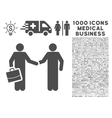 Contract Icon with 1000 Medical Business Symbols vector image vector image
