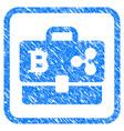 cryptocurrency portfolio framed stamp vector image vector image