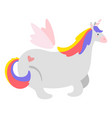 cute unicorn fairytale animal vector image