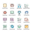 data analytics icons set