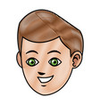 drawing face boy smiling avatar design vector image vector image