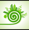 Ecology Concept - eco cityscape with spiral design vector image